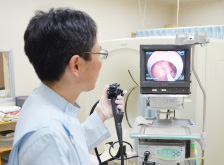 大腸内視鏡による腸内の検査